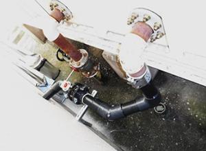揚水管及びサクション管仮設工事